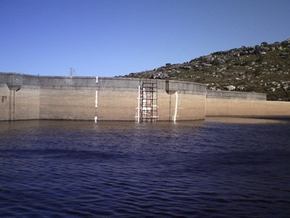 Lewis Gay Dam, Cape Point Peninsula, Water Levels 19-8-2010