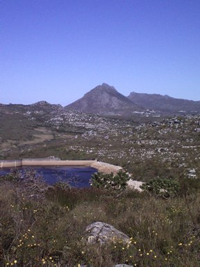 Lewis Gay Dam with Simon's Berg in background
