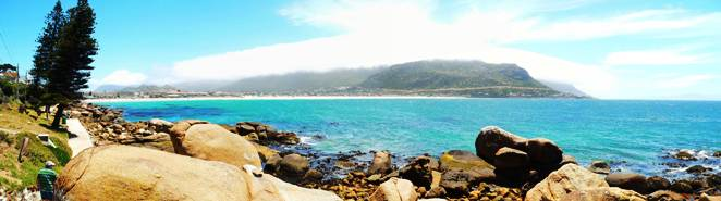 Fish Hoek Bay on Christmas Day 2010