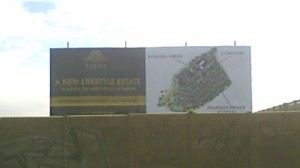 Billboard at the Kaolin development site