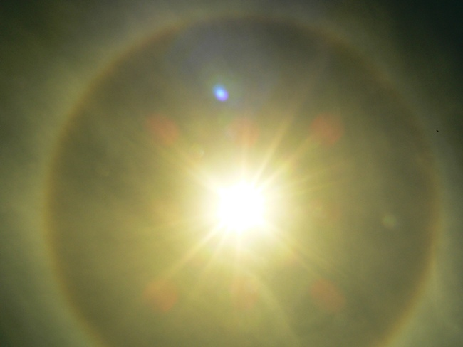 A ring around the sun