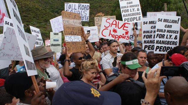 Chapmans Peak protest