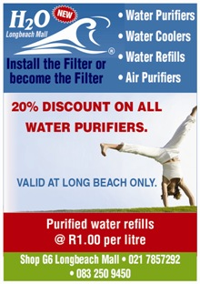 H2O International Cape Point and Cape Town's premier suppliers of Water Filters